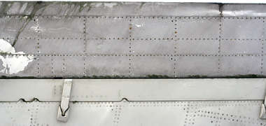 aircraft panel plane old rivets rivet metal