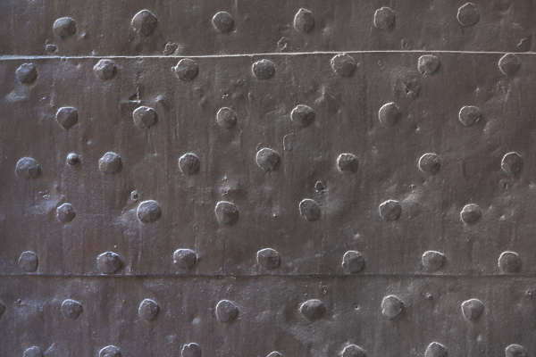 metal medieval old reinforced nails armor armored door