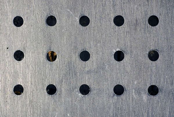 metal bare holes