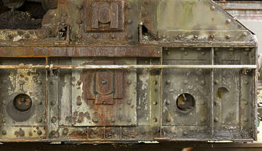 metal bulkhead old rusted train