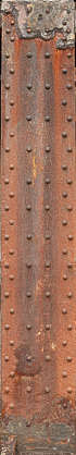 beam metal rivets support column rust rusted