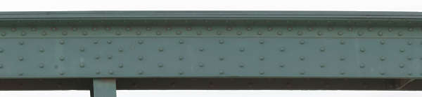 metal column strut support beam rivets