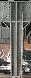 metal beam structure bridge rivet rivets seams