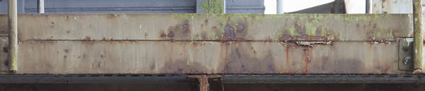 metal rusted beam seam