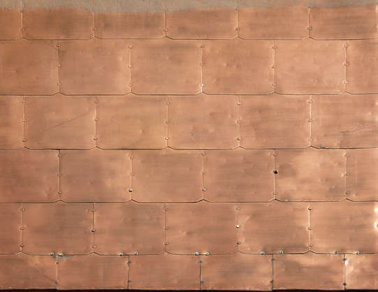 metal copper tiles
