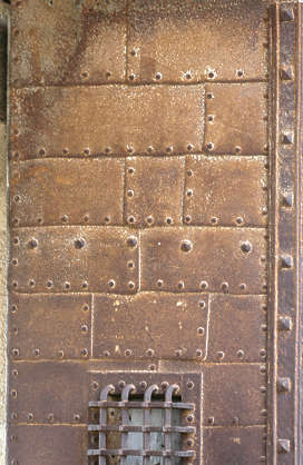 metal copper rust old plates rivets