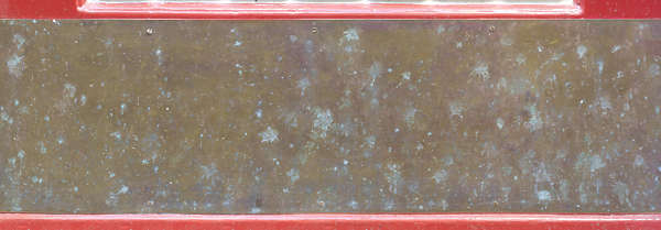 copper plate corrosion dirty metal