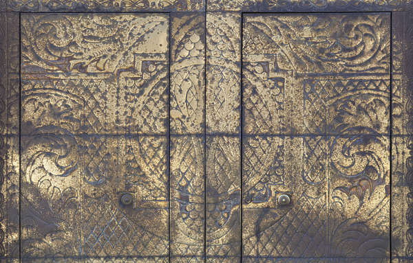 metal spain weathered brass door ornate