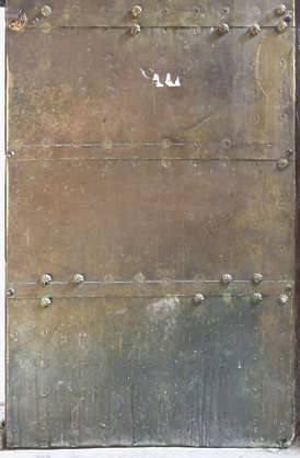 metal copper brass old corrugated