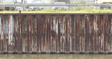wall harbour metal harbor rust plates rusted