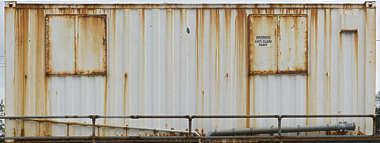 UK metal rust leaking rusted container