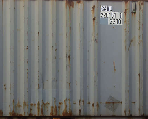 metal container side rust numbers sticker