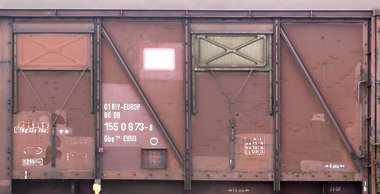 metal container train side numbers