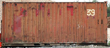metal container side paint rust