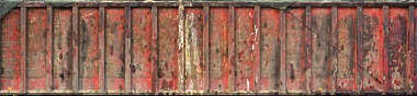 metal container side paint rust old