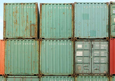 container containers side metal door
