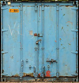 metal container door doors front