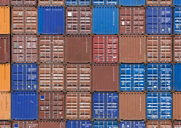 container wall door doors containers stacked stack