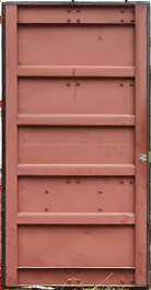 container metal door inside