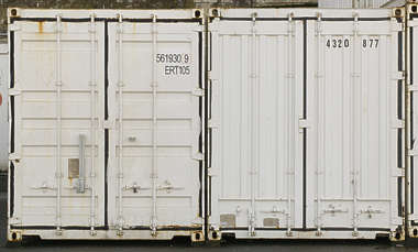 metal containers clean new container shipping front doors