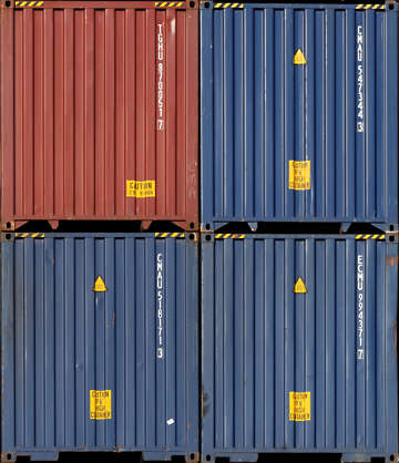 container metal front shipping