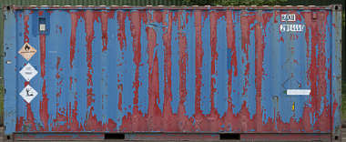 metal container painted UK