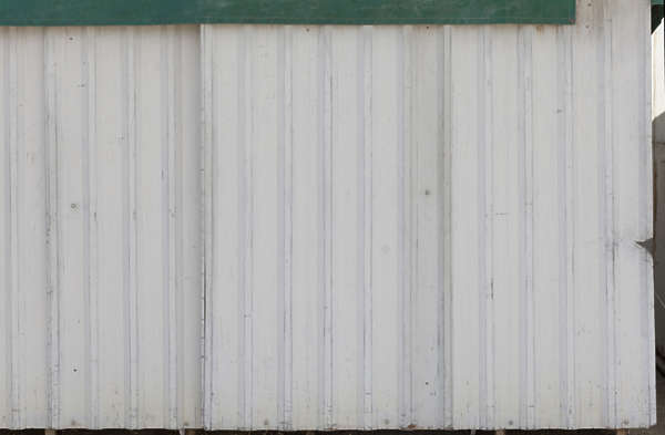 metal plates new clean painted fence spain