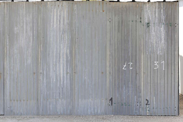 metal plates fence bare spain