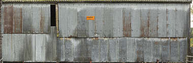UK metal plates weathered bare old