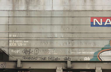 metal plates train cargo dirty