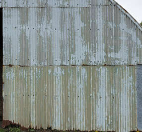 metal UK rusted painted worn hangar