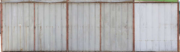 metal plates new clean fence spain bare