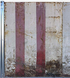 morocco metal plate painted paint stripes rusted old fence