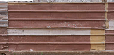 metal plate plates painted fence
