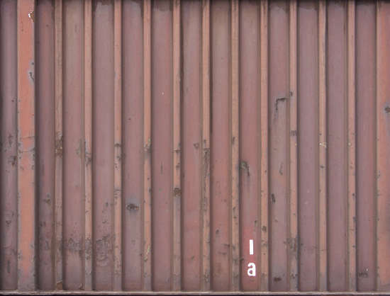 metal container dirty rust spots side