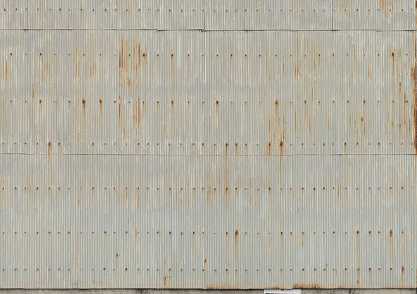 metal corrugated plates rusty rusted old painted