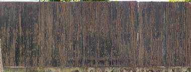 japan metal corrugated rusted old worn