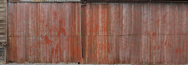 metal corrugated plates old rusted rust japan