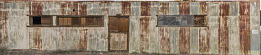 USA Bodie ghosttown ghost town old western goldrush desert arid metal plates corrugated rusted painted