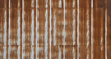 metal corrugated plate plates rusted leaking weathered corrosion old