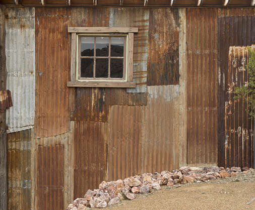 USA nelson ghost town ghosttown metal shed building corrugated plates