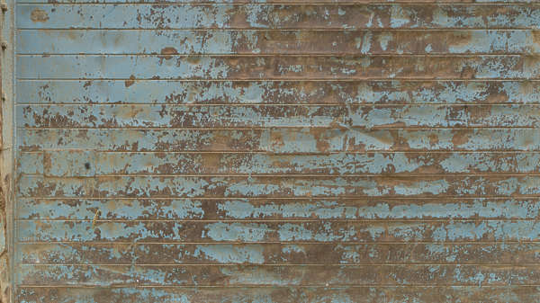 metal plates rusted painted barrier old worn coroded corrosion