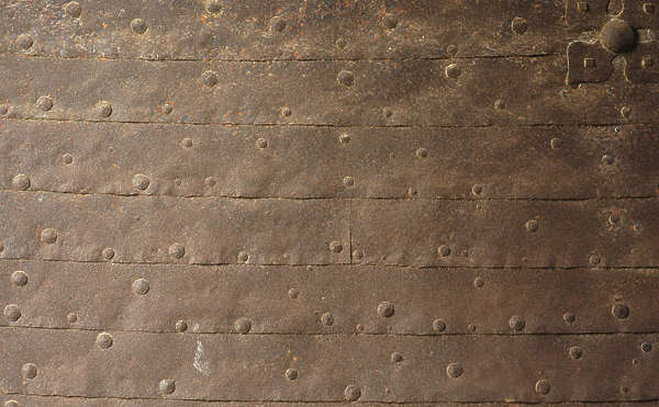 metal rust plates medieval rivets plating armor