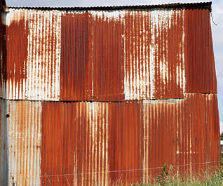 metal plates rusted rust corrugated