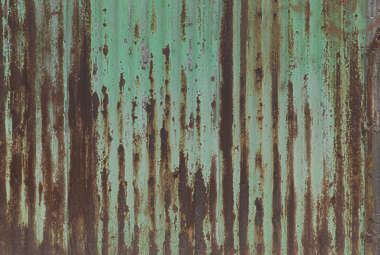 metal plates rusted shanty painted