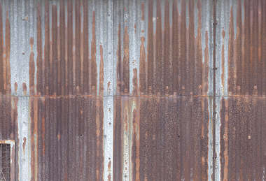 metal plates rusted