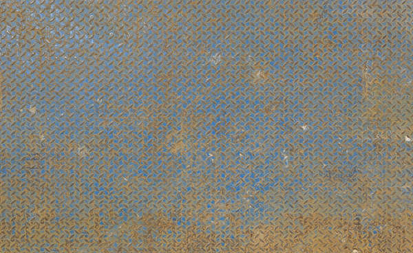 metal threadplate painted rust tearplate treadplate floor