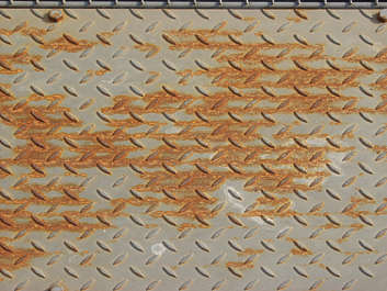 metal threadplate treadplate tearplate rust