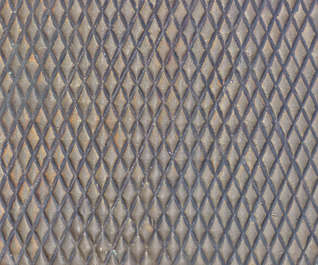 metal threadplate treadplate tearplate bare rust hatch hatched
