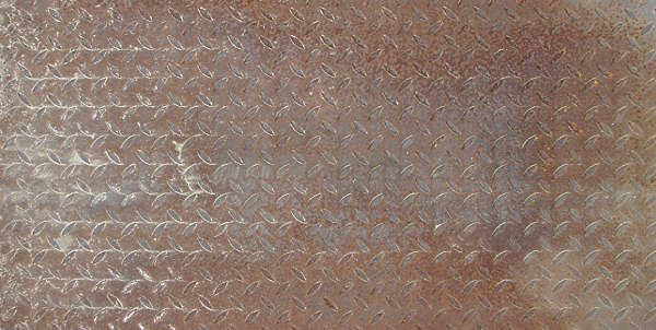 metal threadplate rust